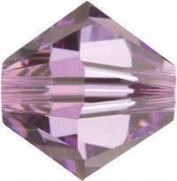 6mm SWAROVSKI® ELEMENTS Light Amethyst Xilion Beads - 25 crystals for jewellery making, beadwork and craft